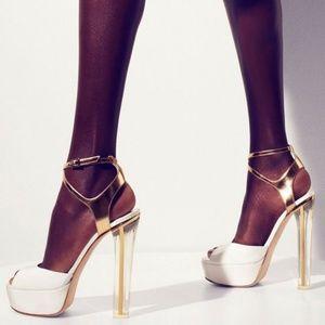 Jimmy Choo Lolita Patent Platform Heels Sandals